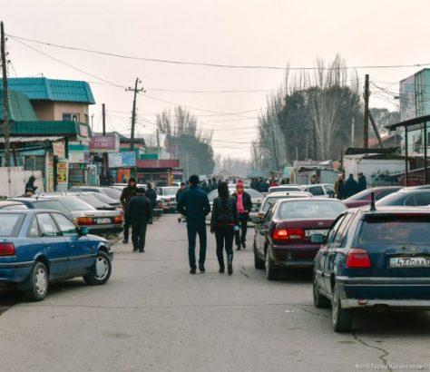 Jarkent Kazakhstan Ville Frontière Chine