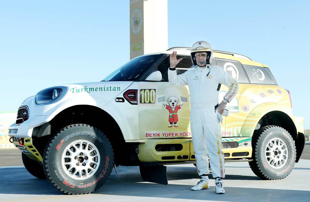 Gourbangouly Berdimouhamedov Turkménistan Amoul Khazar Rallye Course automobile