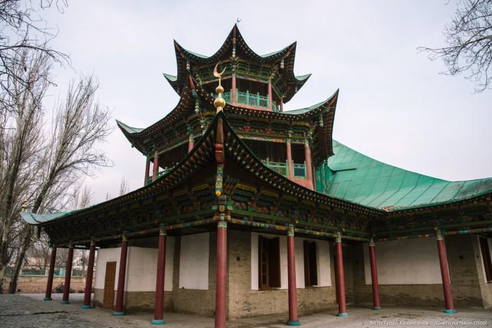 Jarkent Kazakhstan Ville Frontière Chine Mosquée Hun Pit
