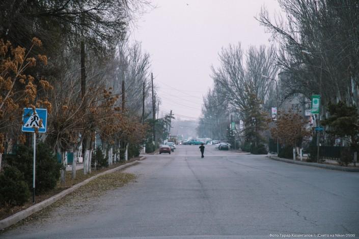 Jarkent Kazakhstan Ville Frontière Chine Rue