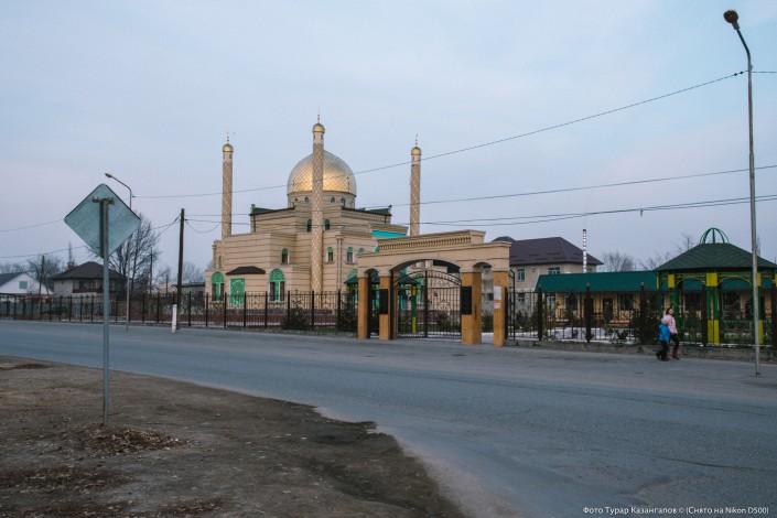 Jarkent Kazakhstan Ville Frontière Chine Mosquée