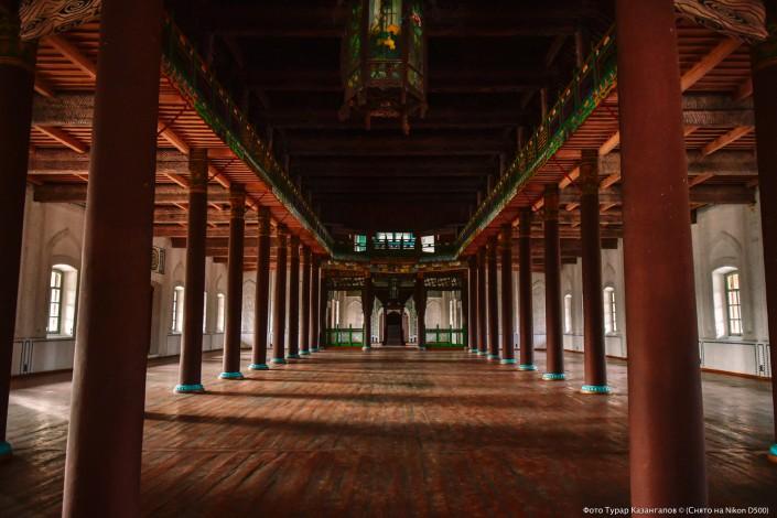 Jarkent Kazakhstan Ville Frontière Chine Mosquée Plancher