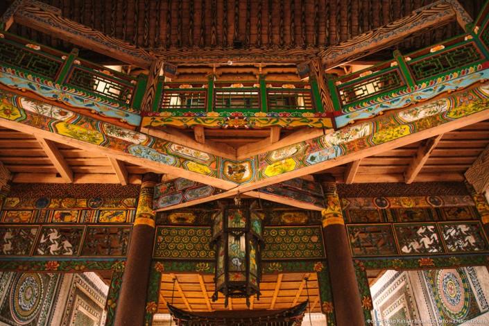 Jarkent Kazakhstan Ville Frontière Chine Mosquée Intérieur décoration