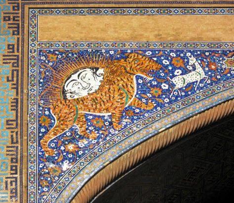 Madrasa Cher-Dor Samarcande Registan Dieu de Soleil