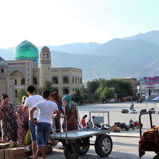 Bazar de Pandjanbé Khudjand Tadjikistan