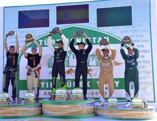 Turkmen Desert Race Rallye Amoul-Khazar Turkménistan Podium