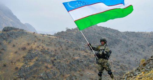 soldat ouzbek drapeau ouzbekistan pays armee militaire