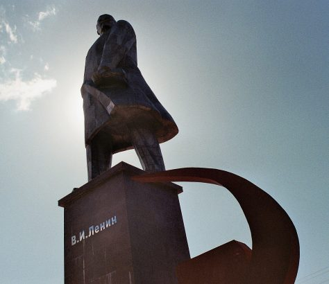Khodjent Tadjikistan Lénin Léninabad statue Union soviétique