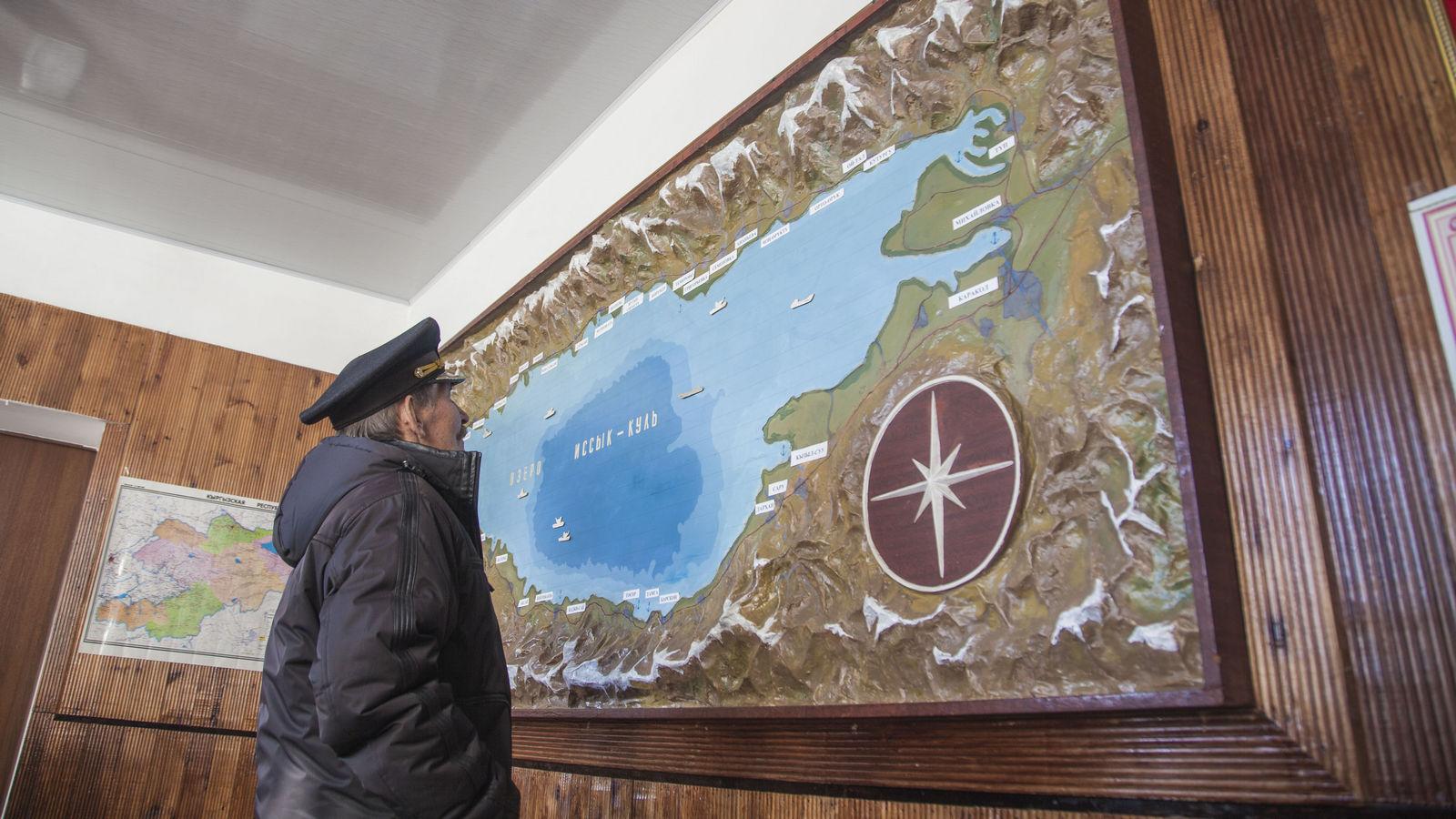 Boris Tchumakov Issyk-Koul Compagnie de navigation Fret Kirghizstan Lac Faillite Carte