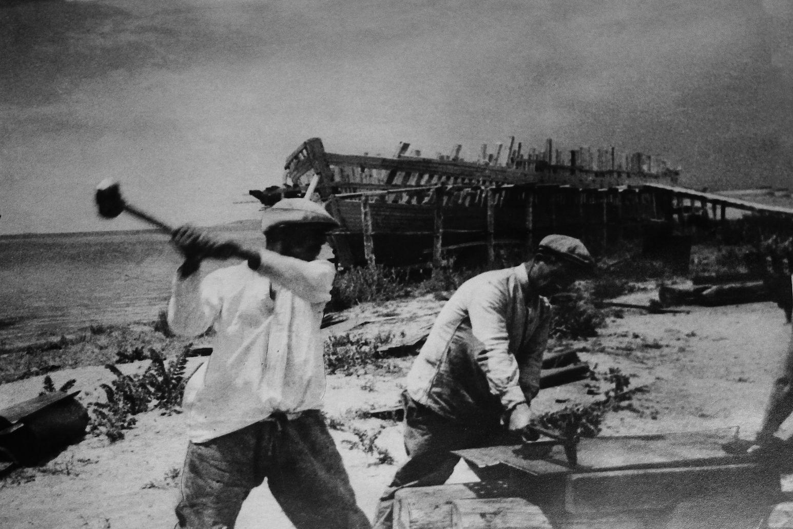 Travailleurs Issyk-Koul Compagnie de navigation Fret Kirghizstan Lac URSS
