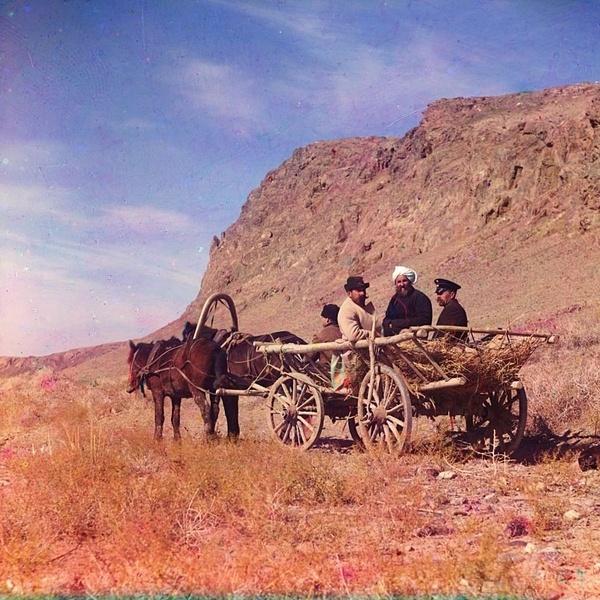 Asie centrale XXème siècle 1910 Voyage Sergueï Prokoudine-Gorski Empire russe Photographie Steppe de la Faim