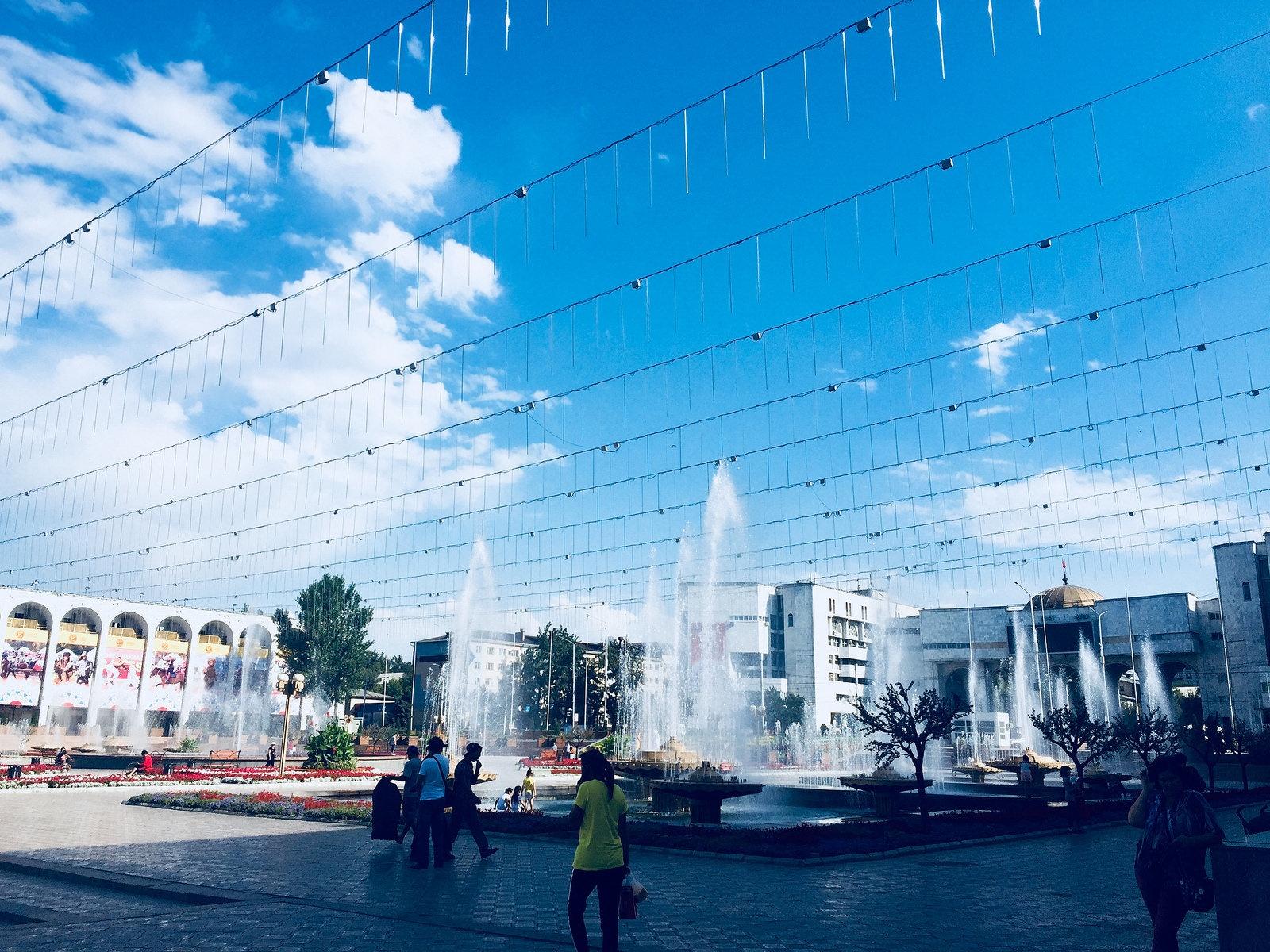 Bichkek Kirghizstan Ala Too Place Economie Consommation