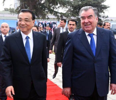 Tadjikistan Rahmon Chine Li Keqiang Visite