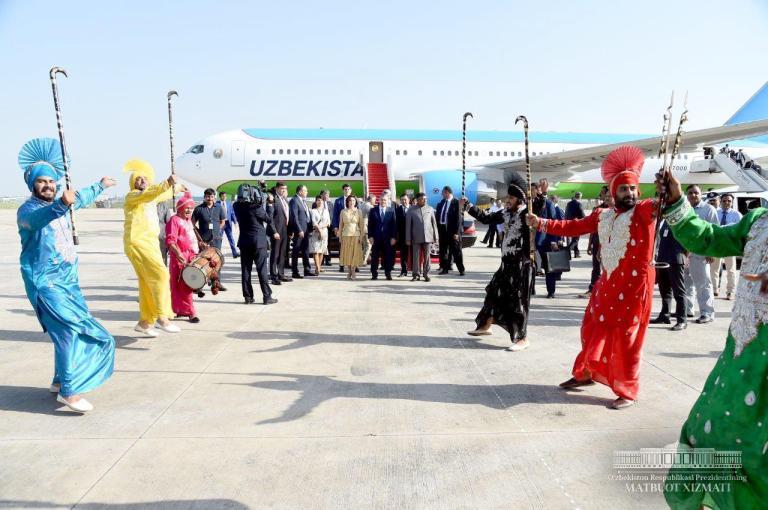Inde Chavkat Mirzioïev Visite 30 Septembre 2018 Ouzbékistan