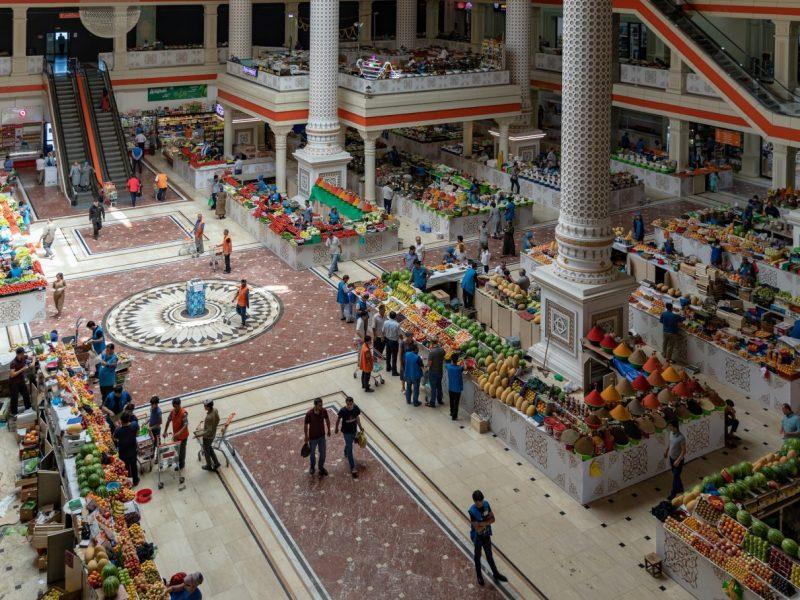 Marché Chakhmansur Douchanbé Tadjikistan