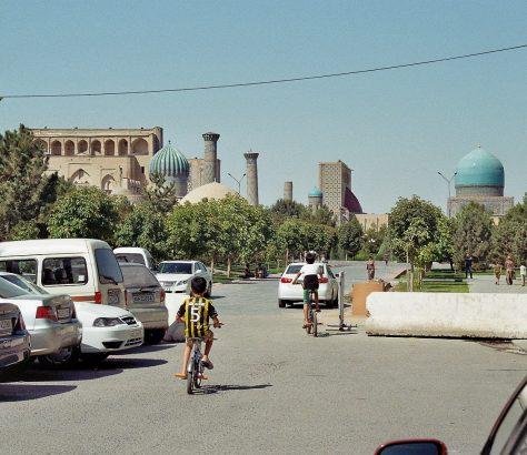 Vélo Ouzbékistan Samarcande Registon