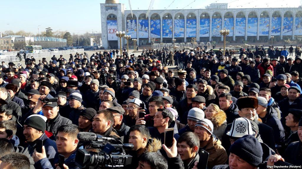Kirghizstan Manifestation Bichkek Chinois Chine Xinjiang