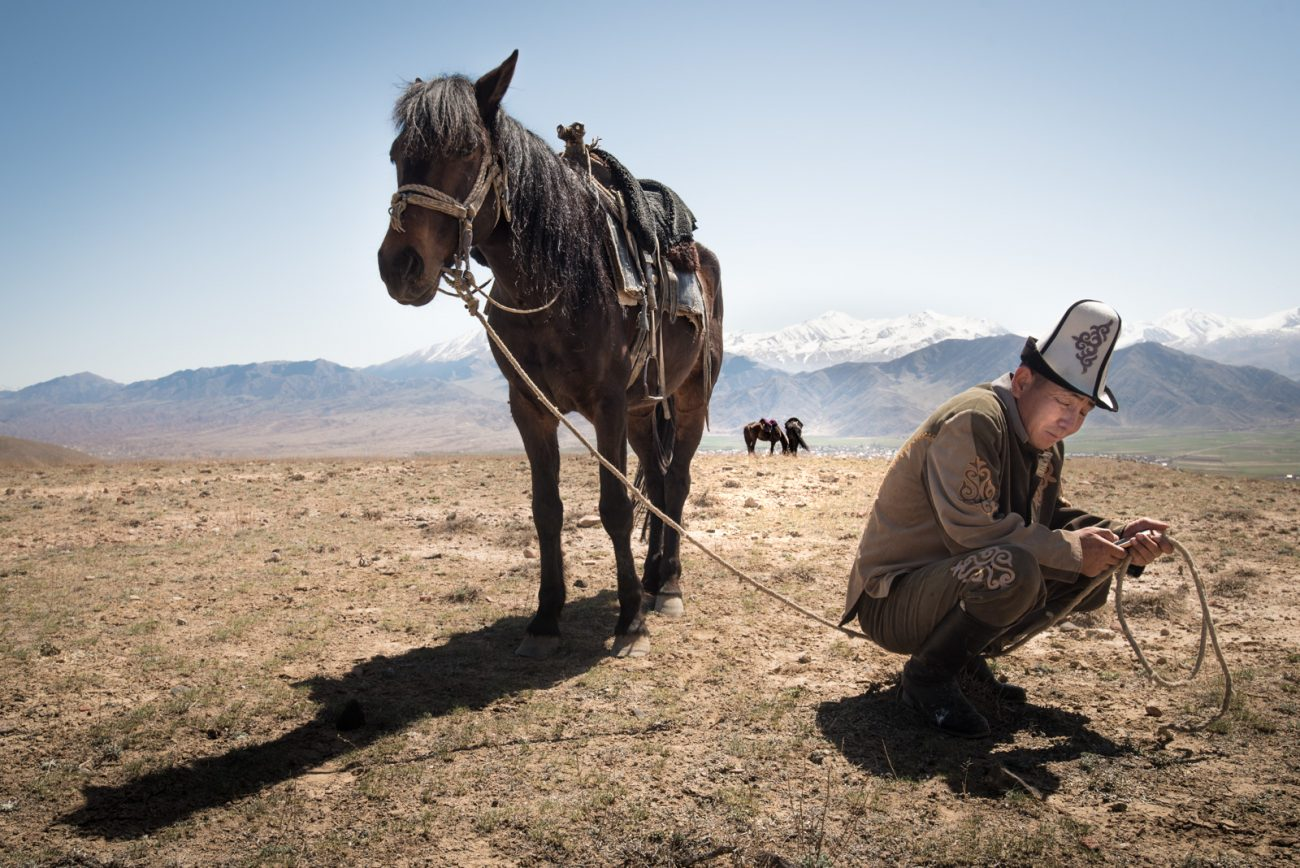Chasse au faucon Kirghizstan Antoine Béguier