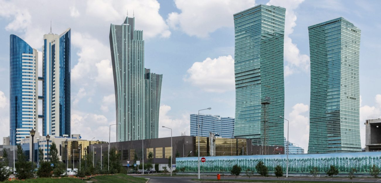 Vue Astana Capitale Kazakhstan Administrations Pays