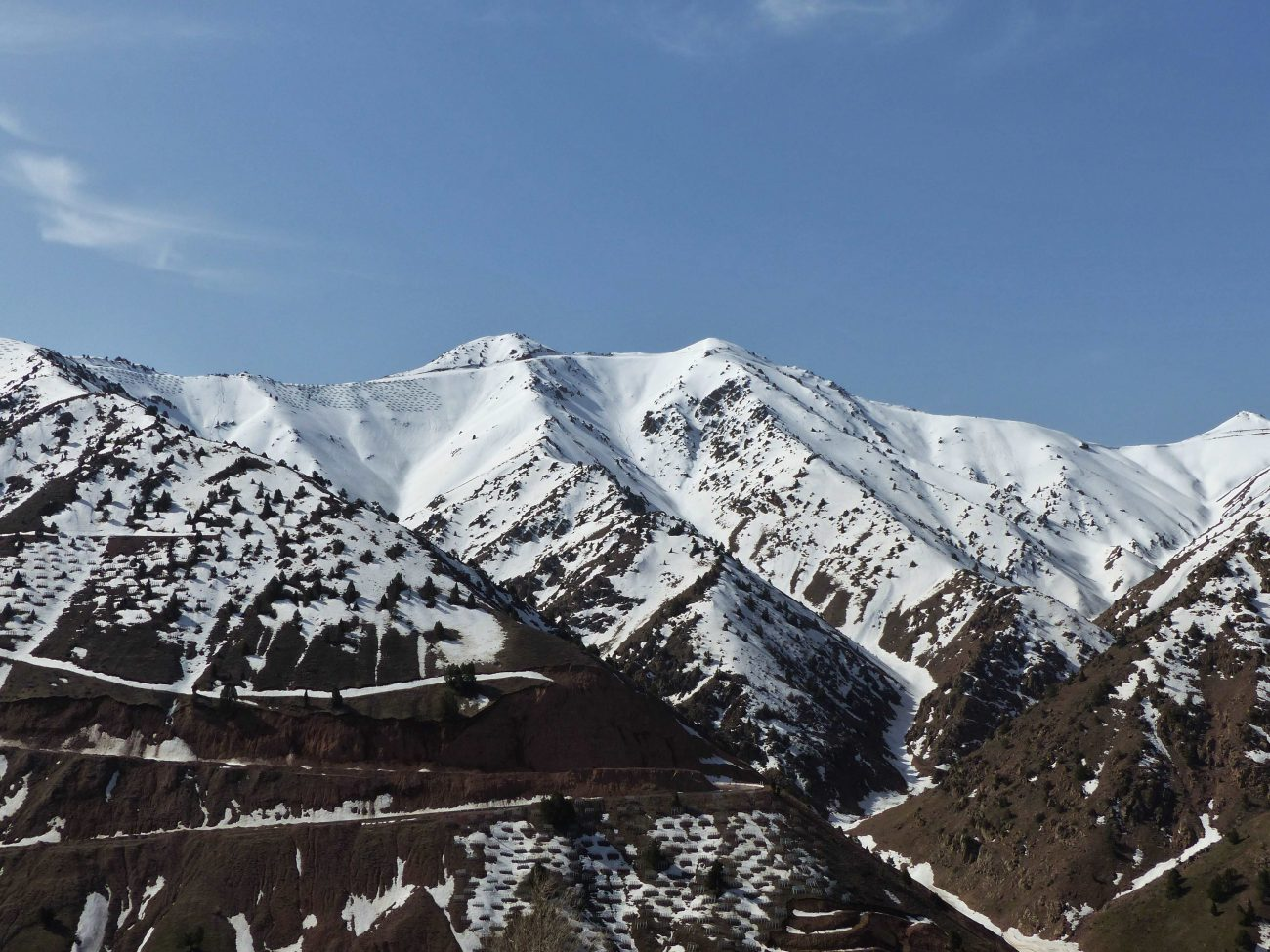 Sur la route vers la vallée de Ferghana