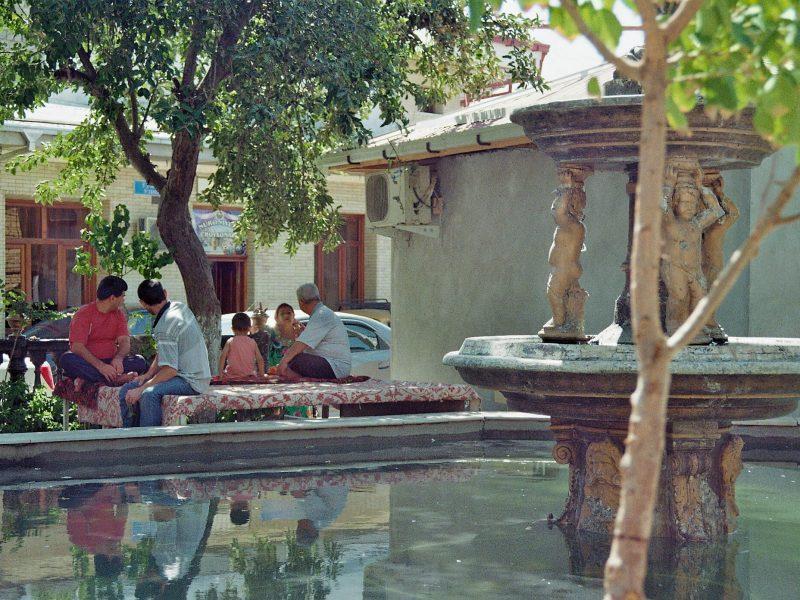 Regroupement Mosquée Samarcande Ouzbékistan