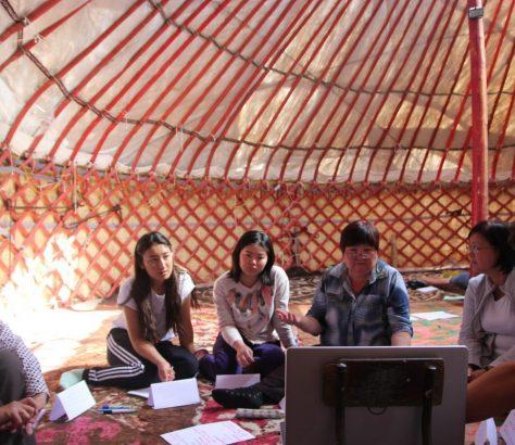 Tradition et Modernité Kirghizstan groupe