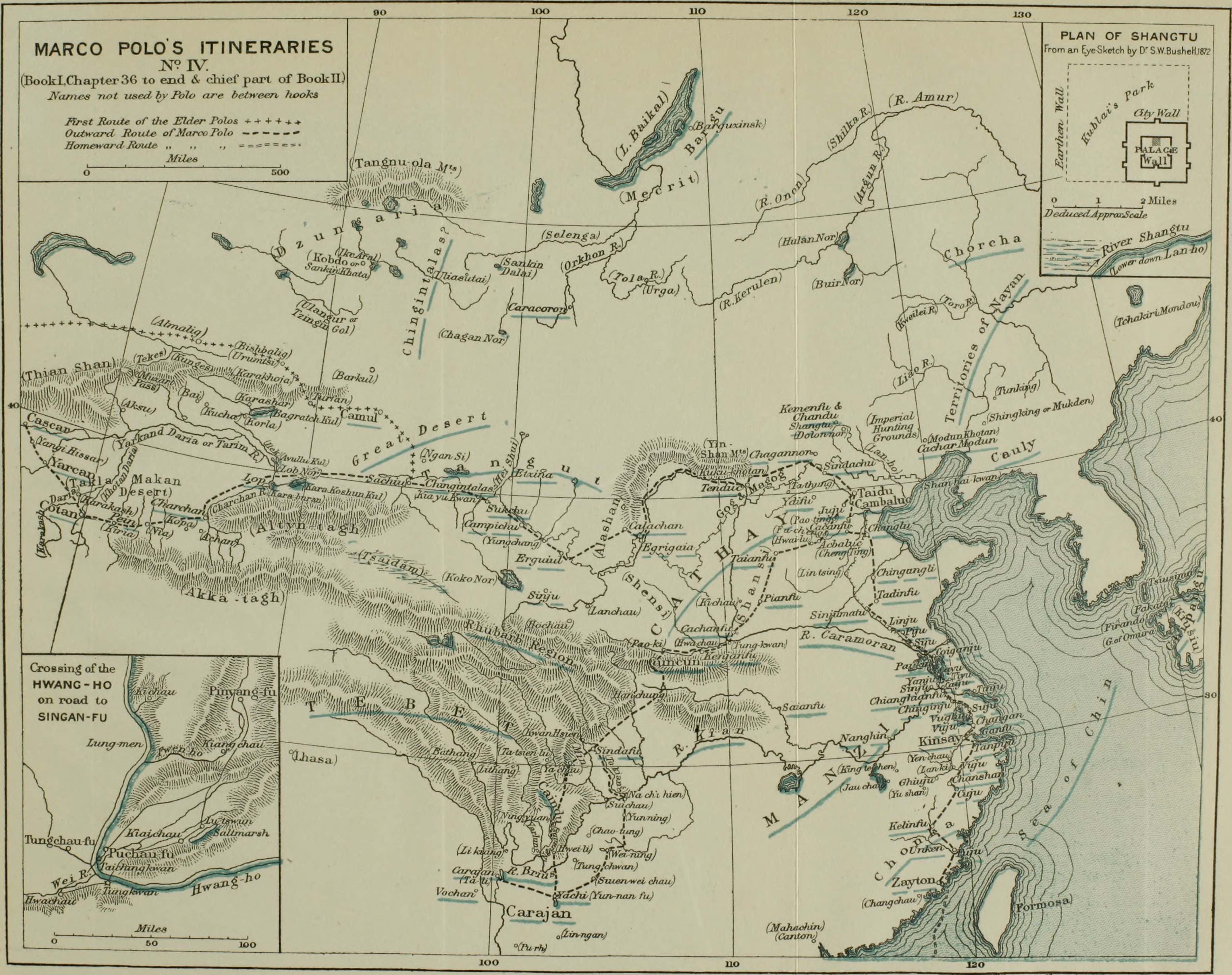 Route de la soie Carte Marco Polo