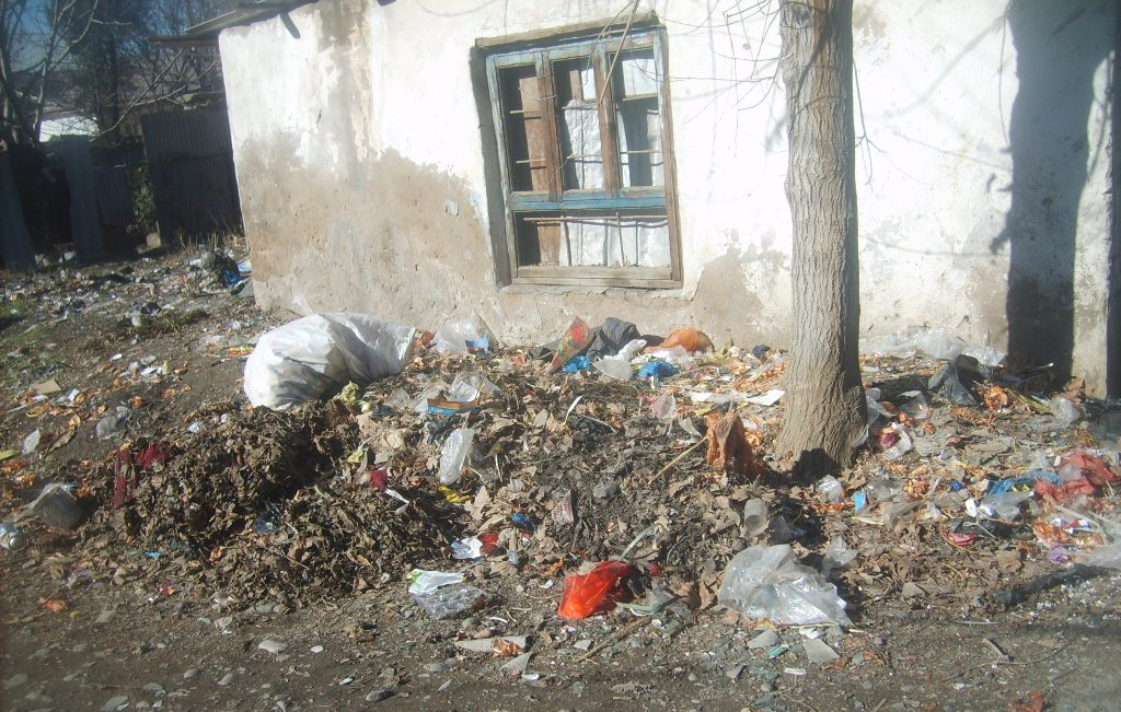Tadjikistan Villages Déchets