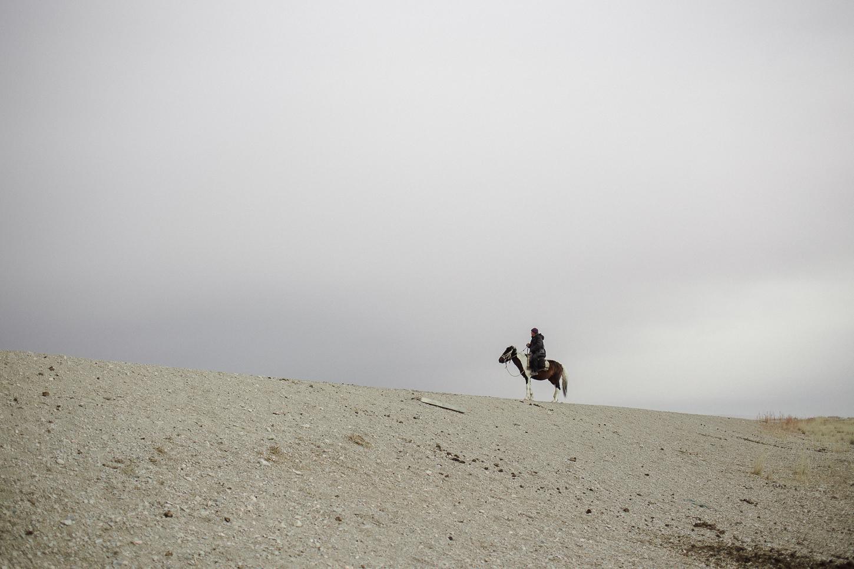 Kirghizstan Cavalier Chevaux