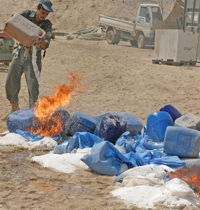 Afghanistan Police Destruction Héroïne