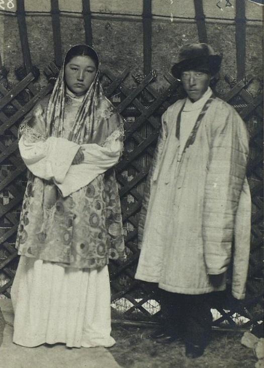 Couple Riches Portrait Kazakhs Kazakhstan XIXème XXème siècle 19ème 20ème Photographies Histoire Société