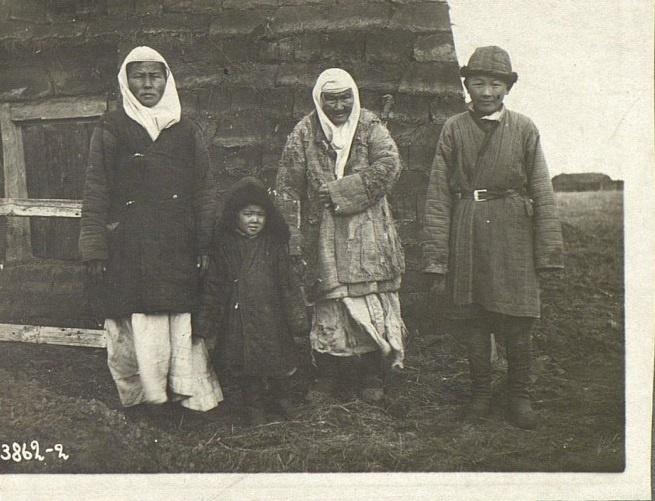 Kazakhs Famille Pauvres Kazakhstan XIXème XXème siècle 19ème 20ème Photographies Histoire Société
