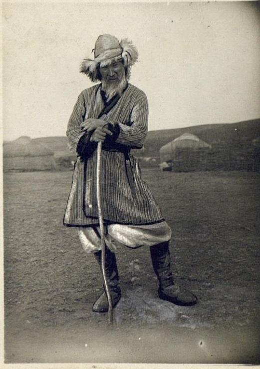 Kazakhs Homme Portrait Semipalatinsk Kazakhstan XIXème XXème siècle 19ème 20ème Photographies Histoire Société