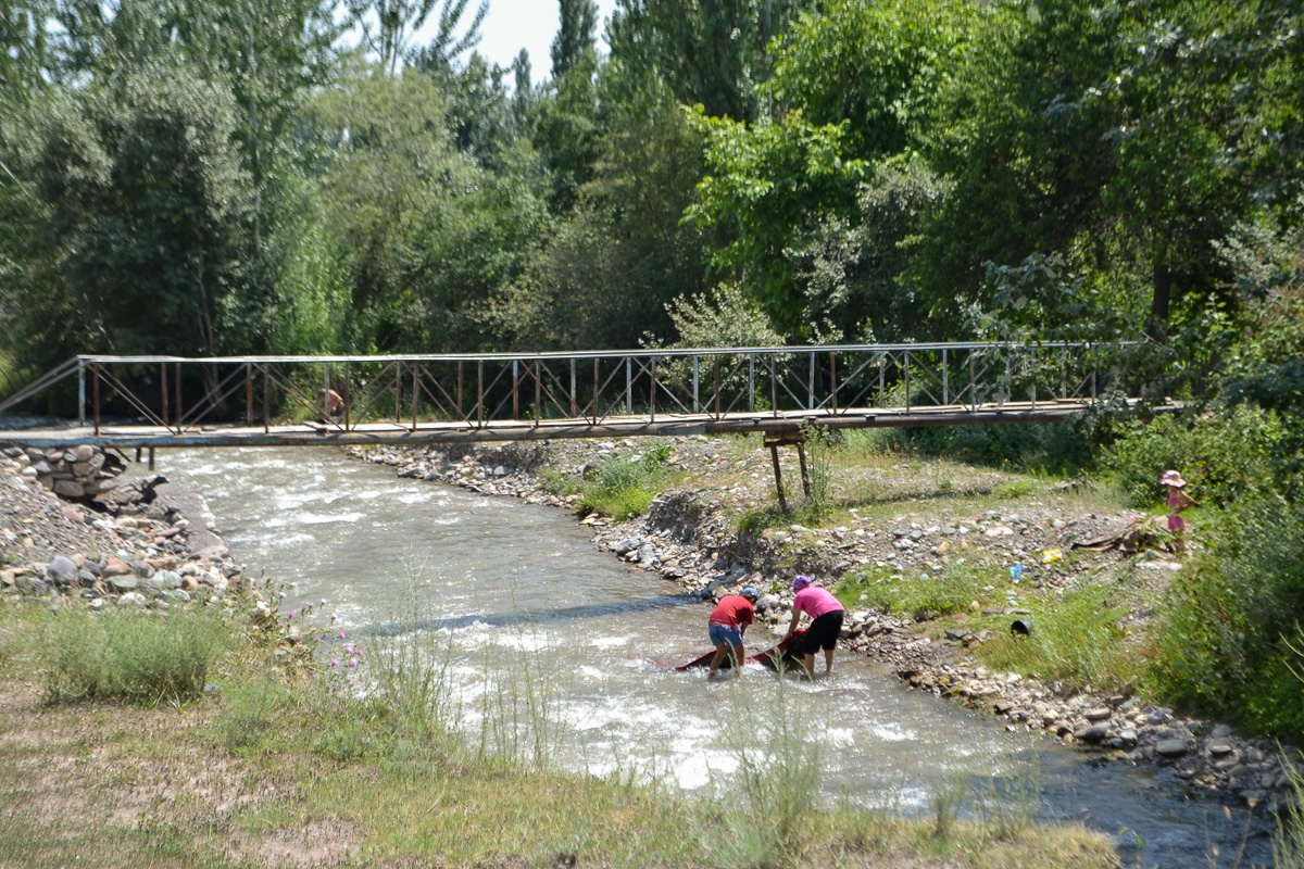 Kirghizstan Soumsar Chekaftar Terrils Eau Résidus Radioactifs