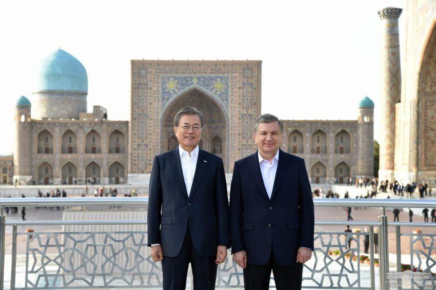 Corée du Sud Moon Jae-In Chavkat Mirzioïev Ouzbékistan Visite