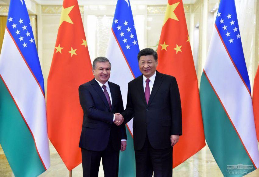 Pékin Chine Chavkat Mirzioïev Xi Jinping Rencontre Forum Belt Road
