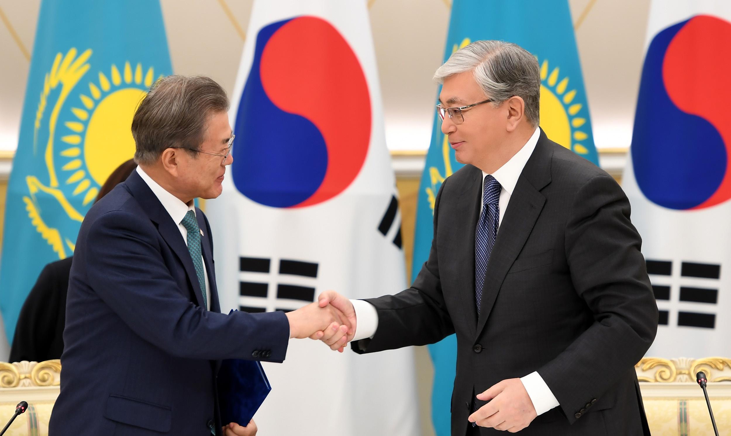 Corée du Sud Moon Jae-In Visite Kazakhstan Kassym-Jomart Tokaïev