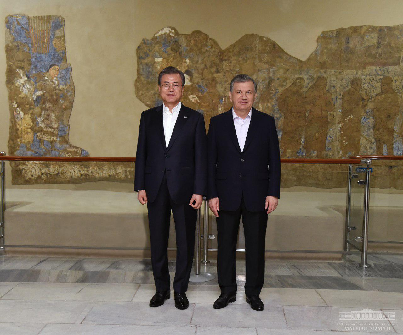 Corée du Sud Moon Jae-In Chavkat Mirzioïev Ouzbékistan Visite Samarcande Route de la soie