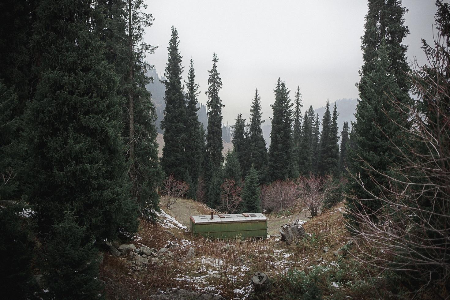 Montagne d'Almaty Kazakhstan Tien Tran