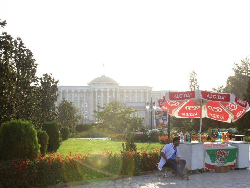 Glacier palais présidentiel Douchanbé Tadjikistan Photo du Jour