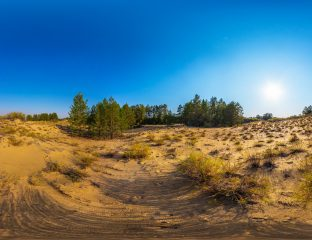 Kazakhstan Oyil Aktioube Désert Oasis Pétrole