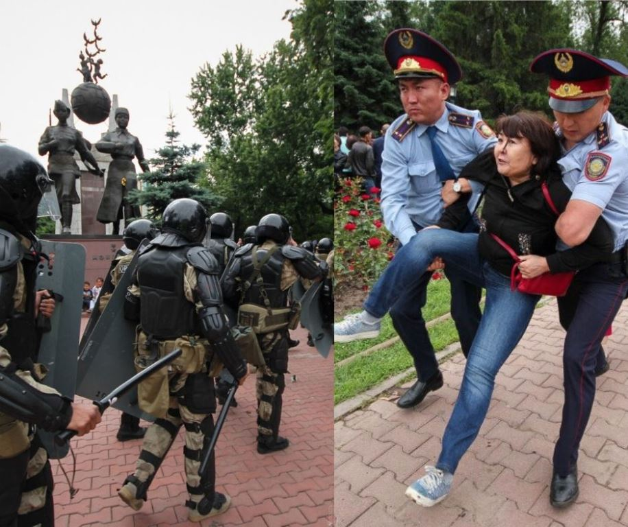 Kazakhstan Election présidentielle Manifestations Occident Arrestation