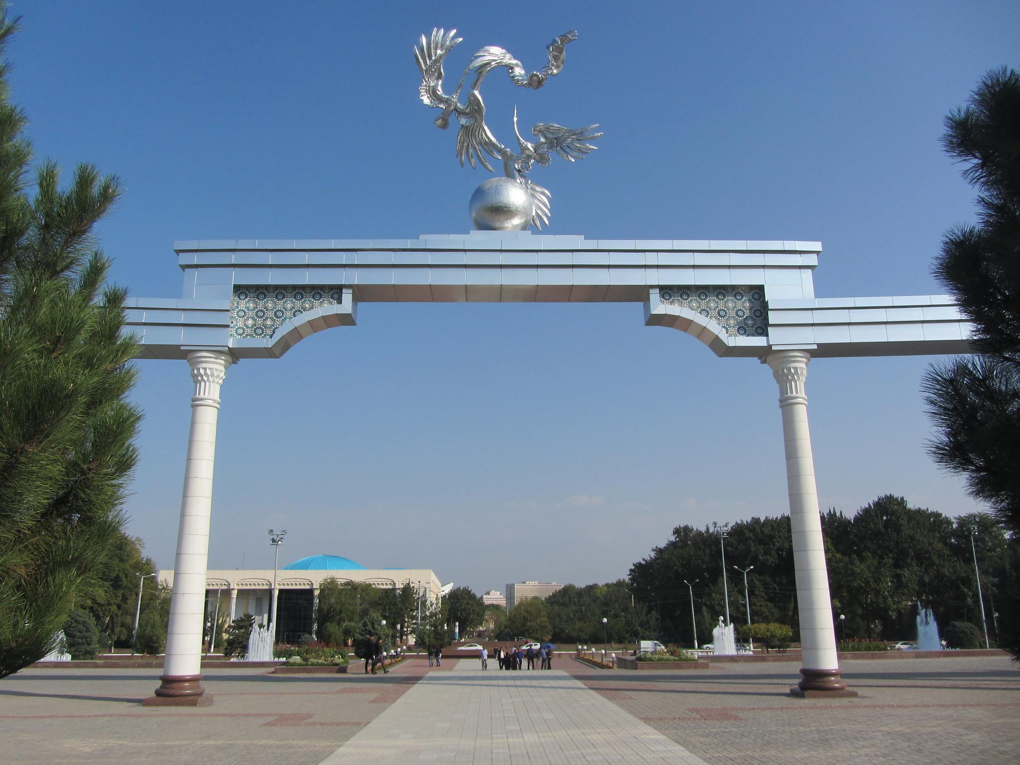 Place indépendance Tachkent Ouzbékistan