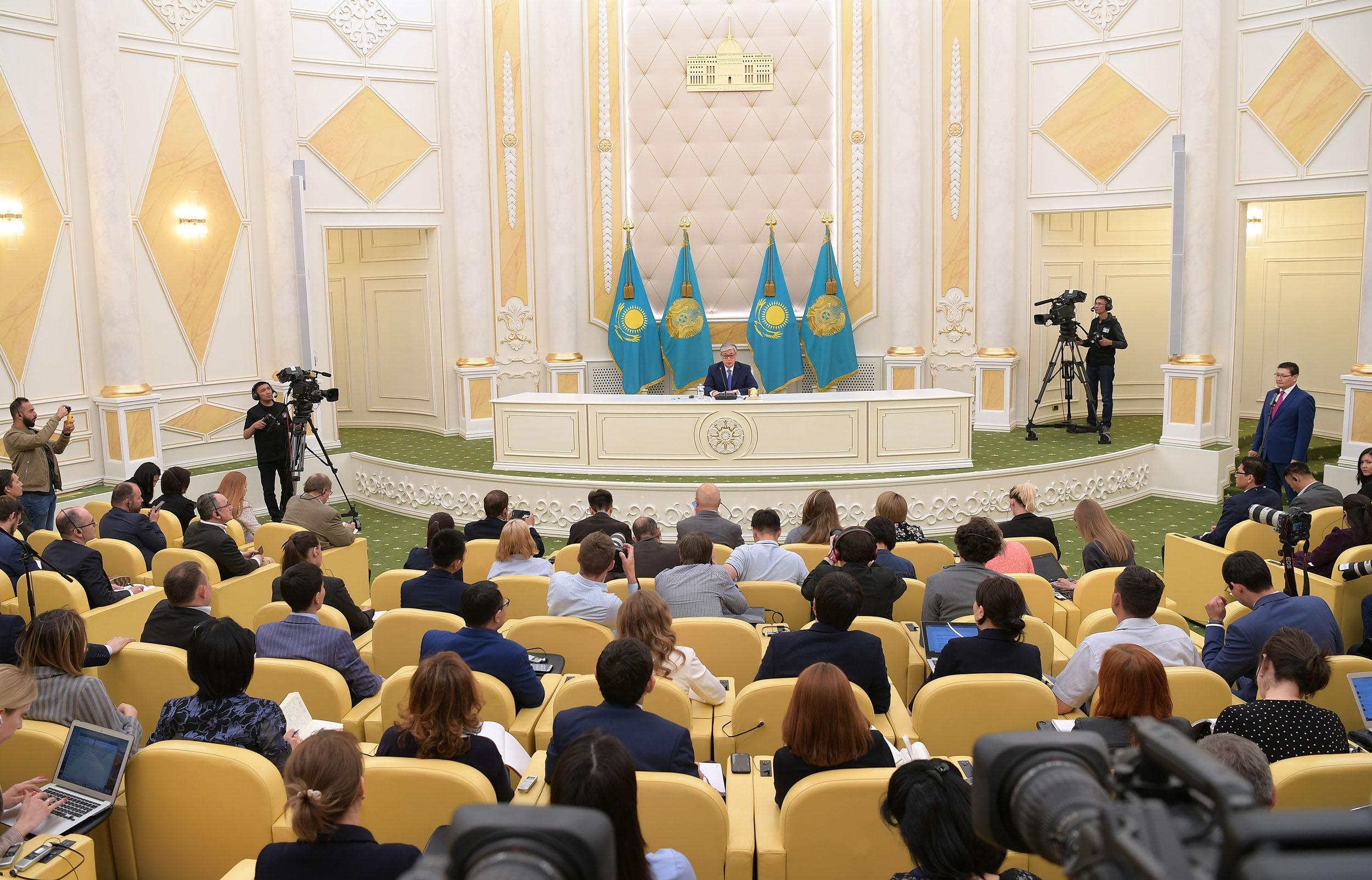 Kassym-Jomart Tokaïev conférence de presse élection Président Kazakhstan