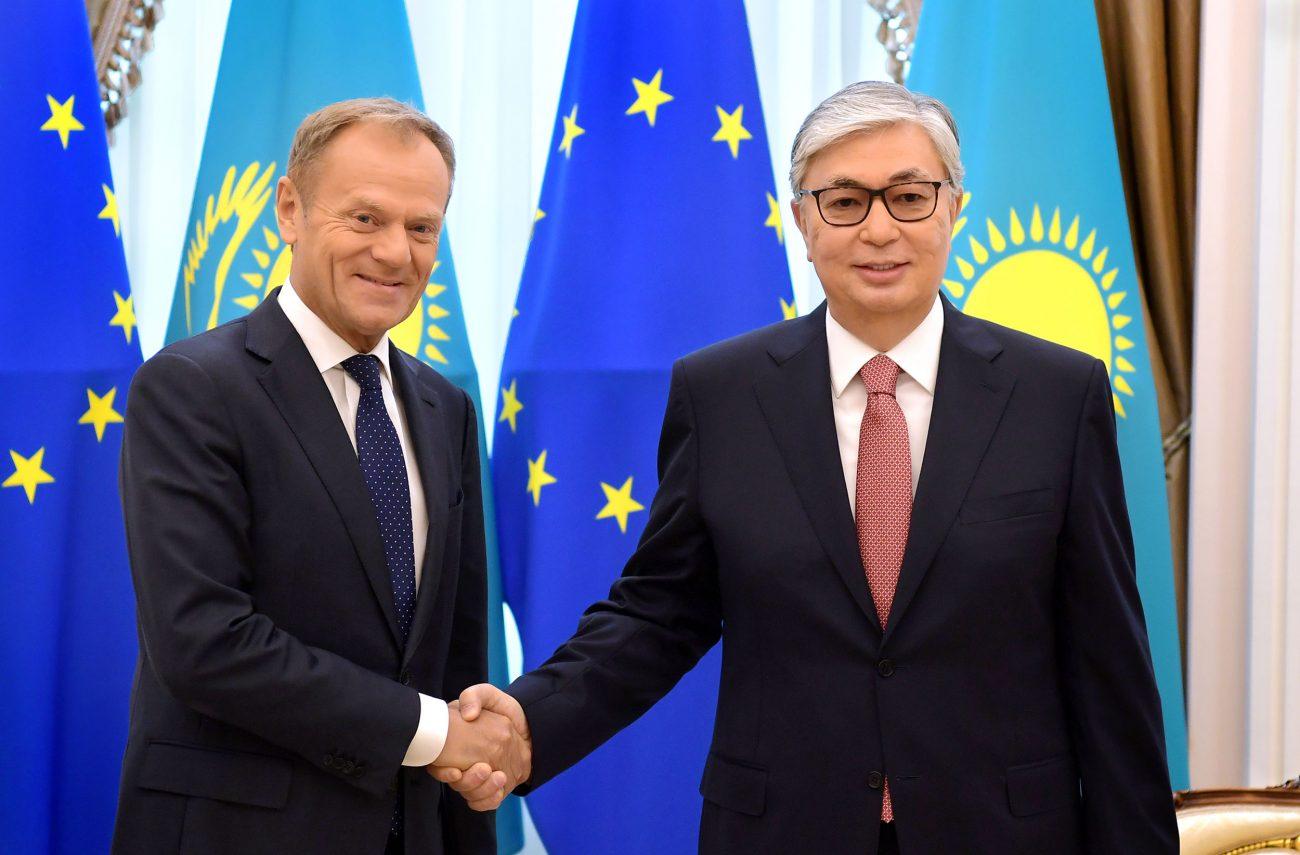 Donald Tusk Kassym Jomart Tokaïev Kazakhstan Conseil européen UE Union européenne