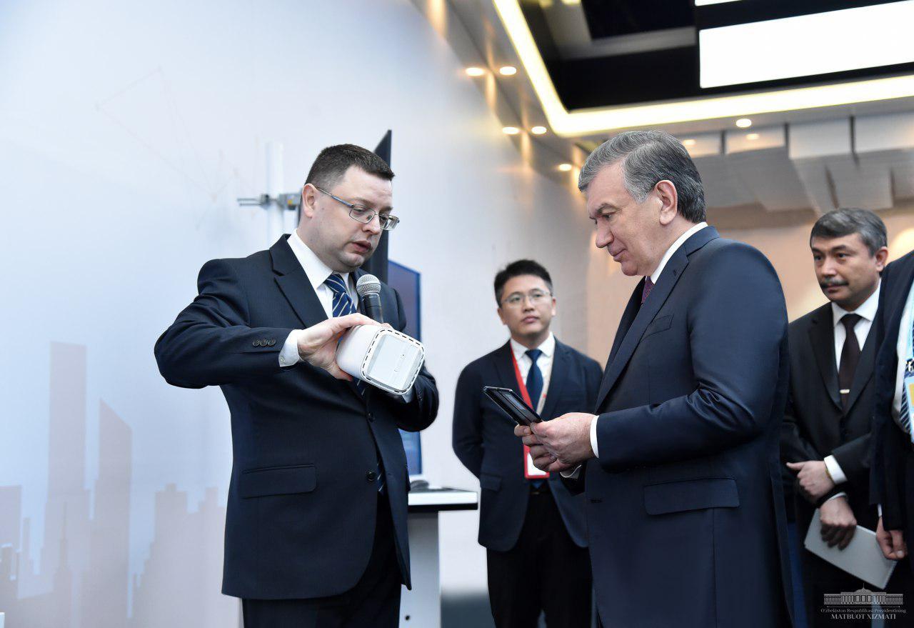 Chavkat Mirzioïev Huawei Ouzbékistan Chine