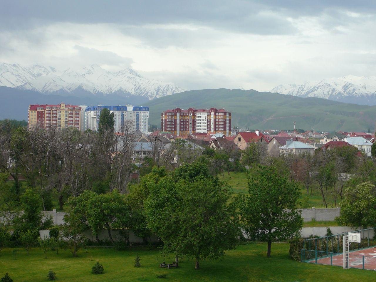 Vue Bichkek Kirghizstan Capitale Ville Montagnes