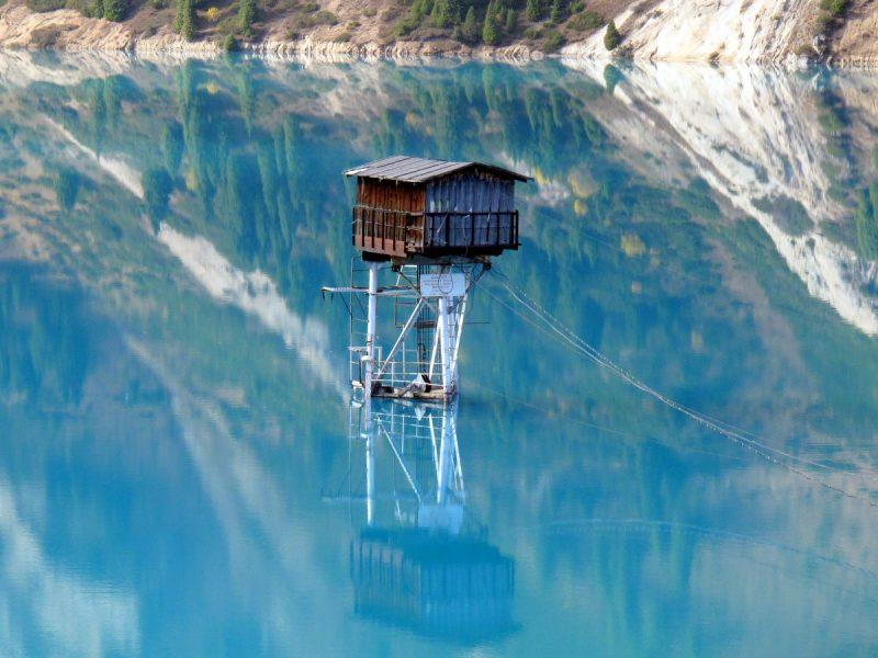 Kazakhstan Grand Lac d'Almaty Tour de guet
