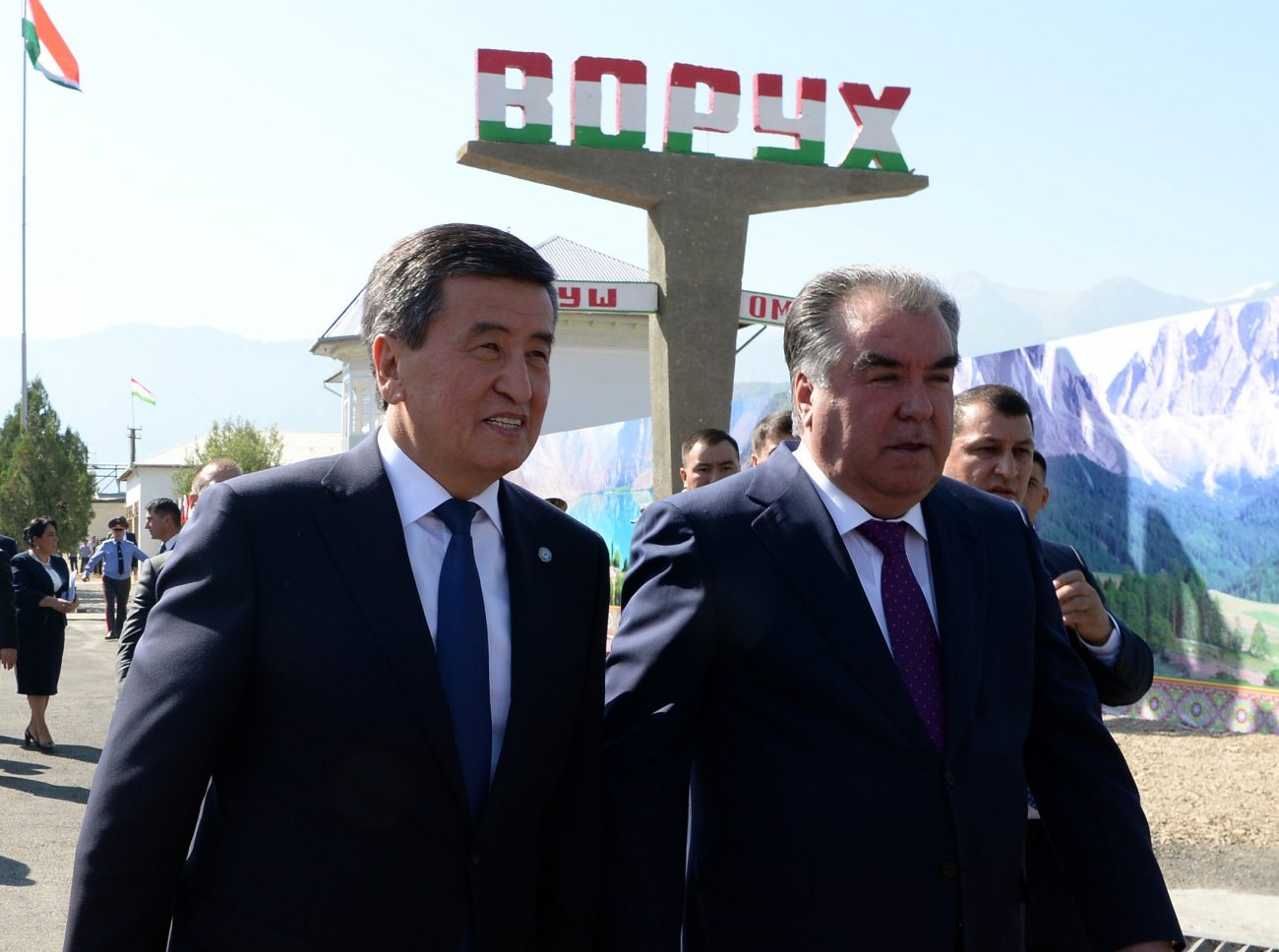 Vorukh Sooronbaï Jeenbekov Emomalii Rahmon Tadjikistan Kirghizstan Diplomatie Rencontre