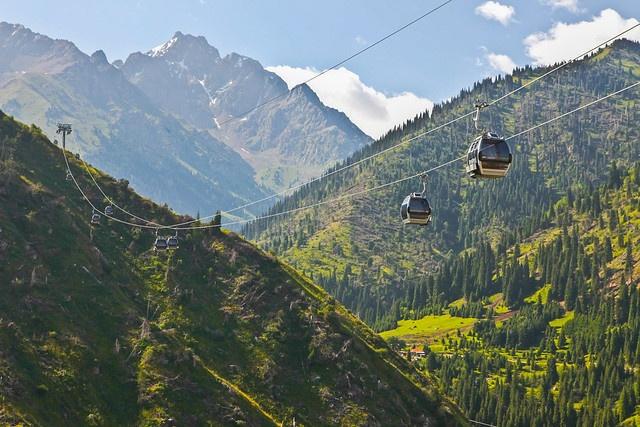 Téléphérique Almaty Kazakhstan Photo du Jour